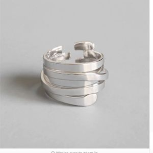 925 sterling silver Multi-layer winding ring